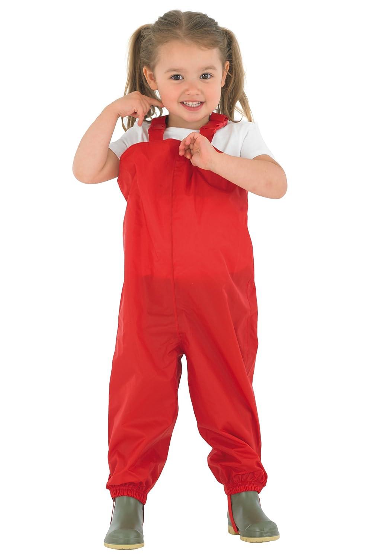 Muddy Puddles Bambini - Salopette impermeabili - Rosso Dungaree protettivo da sci PUDRED