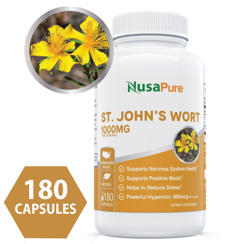Amazon.com: Best St. John\'s Wort 1000mg 180 Capsules (NON-GMO ...
