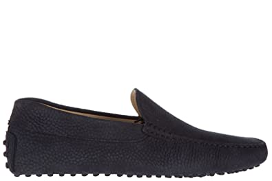 Men's Leather Loafers Moccasins Pantofola Gommini 122 Blu