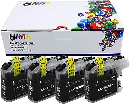 4 Genuine Brother LC103 XL Bk C M Y ink J4410DW J450DW J4610DW J470DW LC103 103