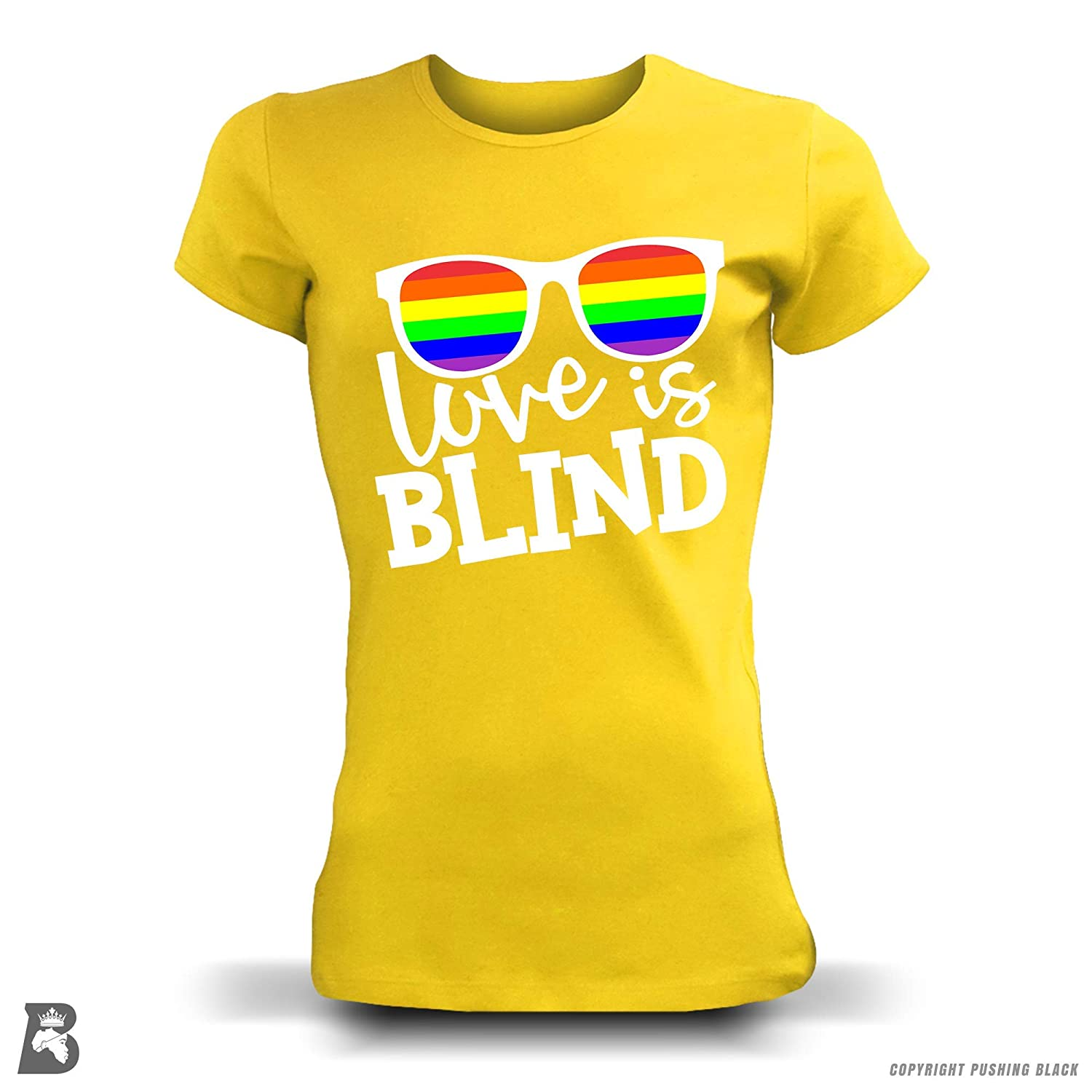 Tank Tops Love is Blind Gay Pride Month T-Shirts Kitchen Aprons Hoodies Sweatshirts and More