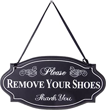 Amazon.com: NIKKY HOME Please Remove Your Shoes - Cartel ...