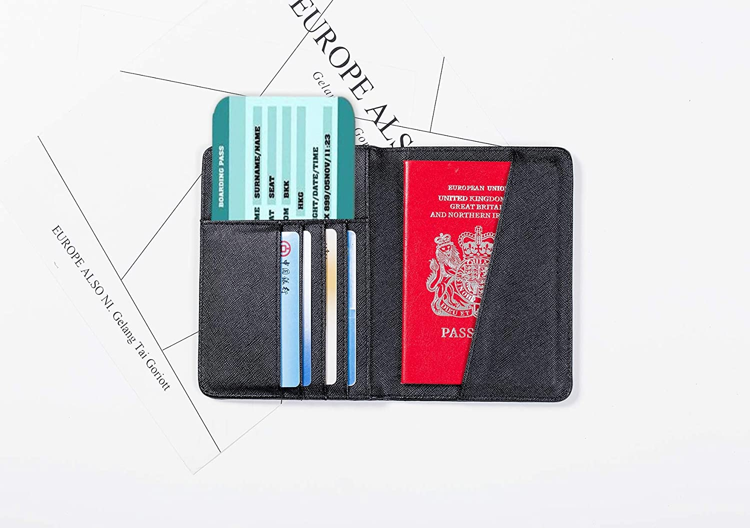 Waterproof Passport Cover Cute Retro Ostrich Flower Green Leaf Cool Passport Case Multi Purpose Print Leather Passport Cover Holder Travel Wallets For Unisex 5.51x4.37 Inch