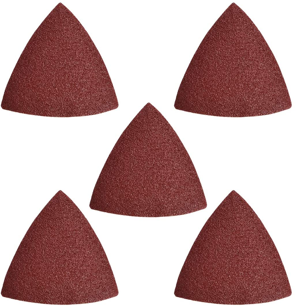 uxcell Triangle Detail Sander Sandpaper Pads Hook /& Loop Sanding Paper Assorted,100 Grits,3-1//8 Inch Triangle Sanding Sheets,5pcs