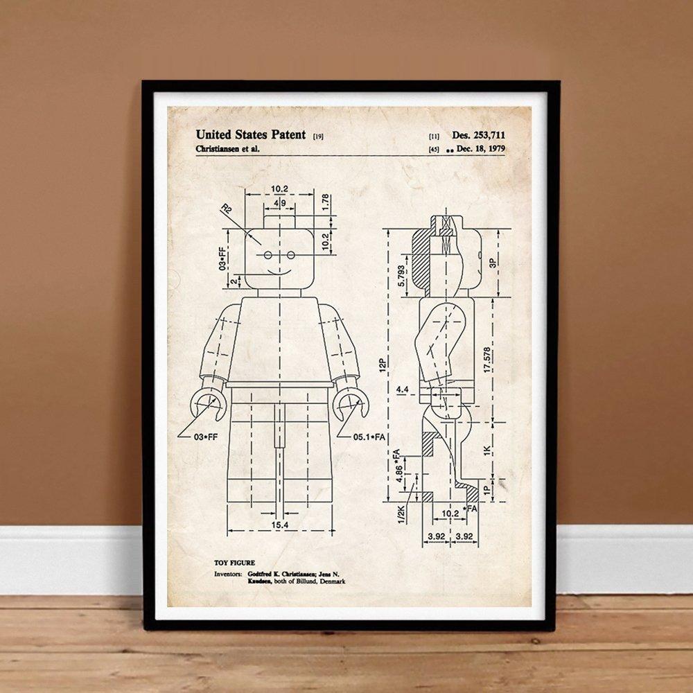 Amazon lego minifigure 1979 patent art print 5 x 7 amazon lego minifigure 1979 patent art print 5 x 7 posters prints malvernweather Image collections