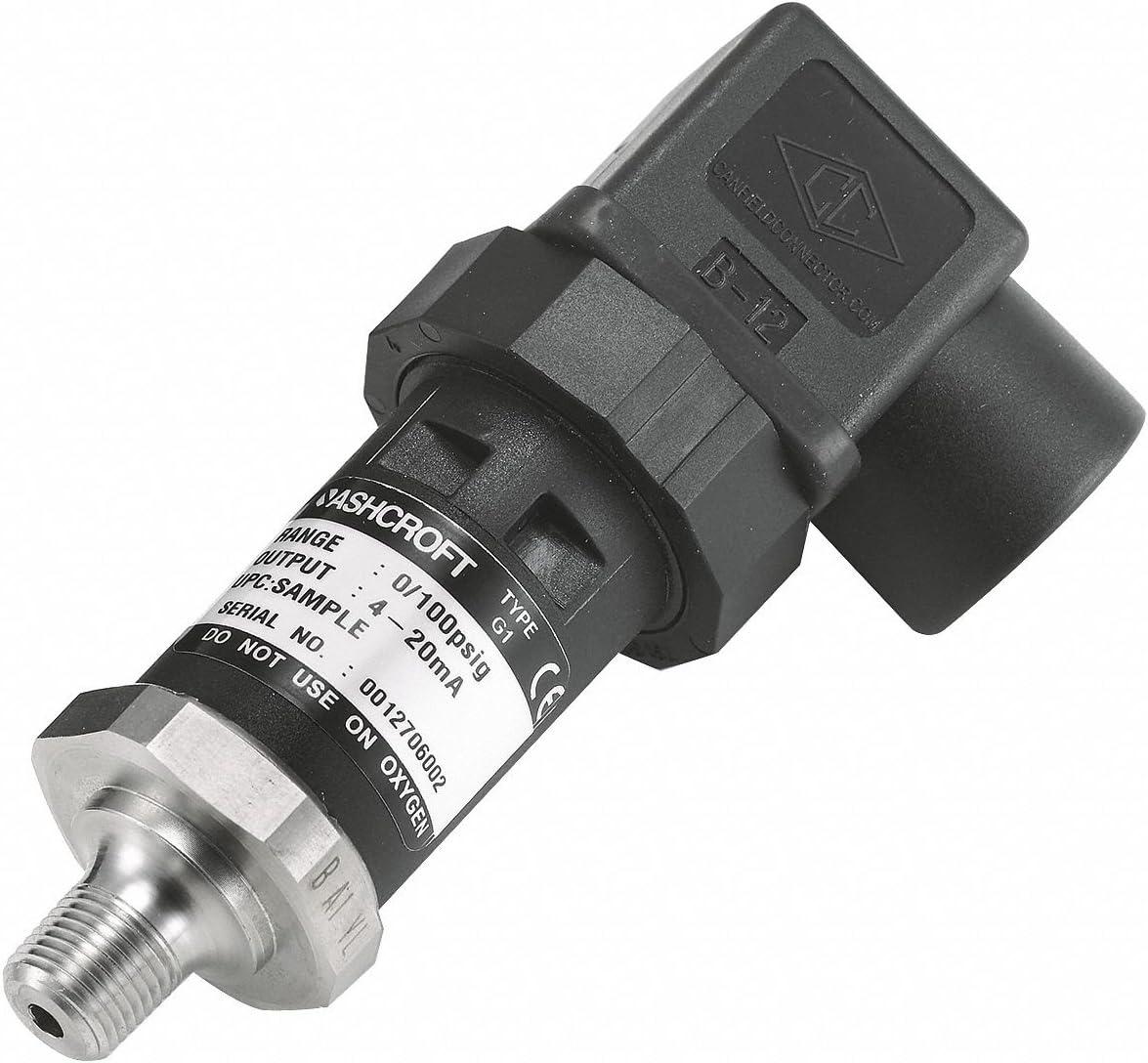 4 to 20mA DC Output 1//8 MNPT Pressure Transmitter 0 to 500 psi