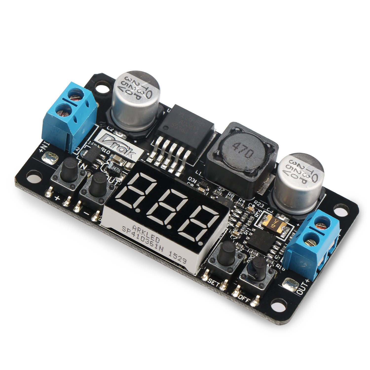 Drok Converter Buck Adjustable Lm2596 With 12 V Digital Voltmeter To 250v Circuit Diagram Electronic Project 4 40 125 37 Dc Power Supply Module Diy Tools