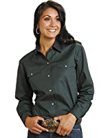 Roper Women's Amarillo Solid Pearl Snap Western Shirt - 03-050-0265-1069 Br