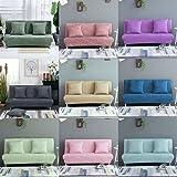 baoblaze 2 sitzer sofabezug stretchhusse sofahusse sofabezuge sofa sitzbezug fur wohnzimmer rosa l