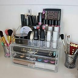 Amazon.com: Ohuhu Acrylic Makeup Cosmetics Organizer 3
