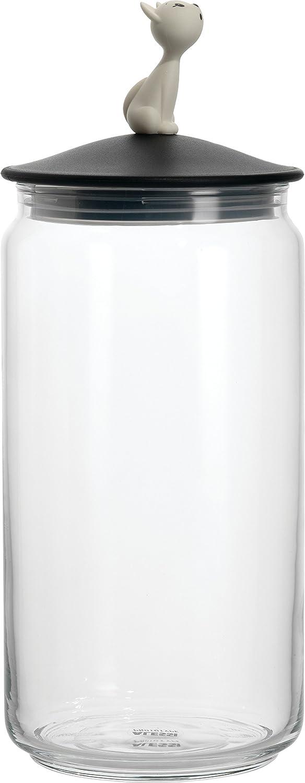【正規輸入品】 ALESSI アレッシィ MioJar キャットフード用ガラス容器/ブラック AMMI22 B B0042WL4IY ブラック ブラック
