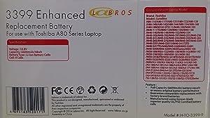 Li-ION Notebook/Laptop Battery for Toshiba PA3399-1BRS PA3399U-1BAS PA3399U-1BRS PA3399U-2BAS PA3399U-2BRS PA339U-2BRS PA3400U-1BAS PA3400U-1BRS PA3478U-1BAS PA3478U-1BRS PABAS057 PABAS076 PABAS077