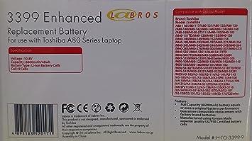 Li-ion portátil/batería para ordenador portátil Toshiba pa3399 – 1brs PA3399U-1BAS