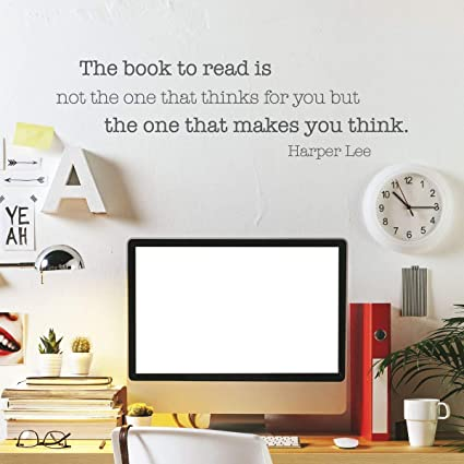 Amazon Com Wall Quote The Book To Read Makes You Think