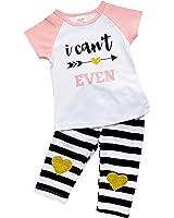 So Sydney Girls Toddler Fun Sayings Short Sleeve T-Shirt Top Capri Pants Outfit