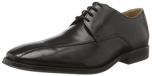 Clarks Gilman Lace, Zapatos de Cordones Derby Para Hombre, Negro (Black Leather), 41.5 EU amazon-shoes el-negro Cuero