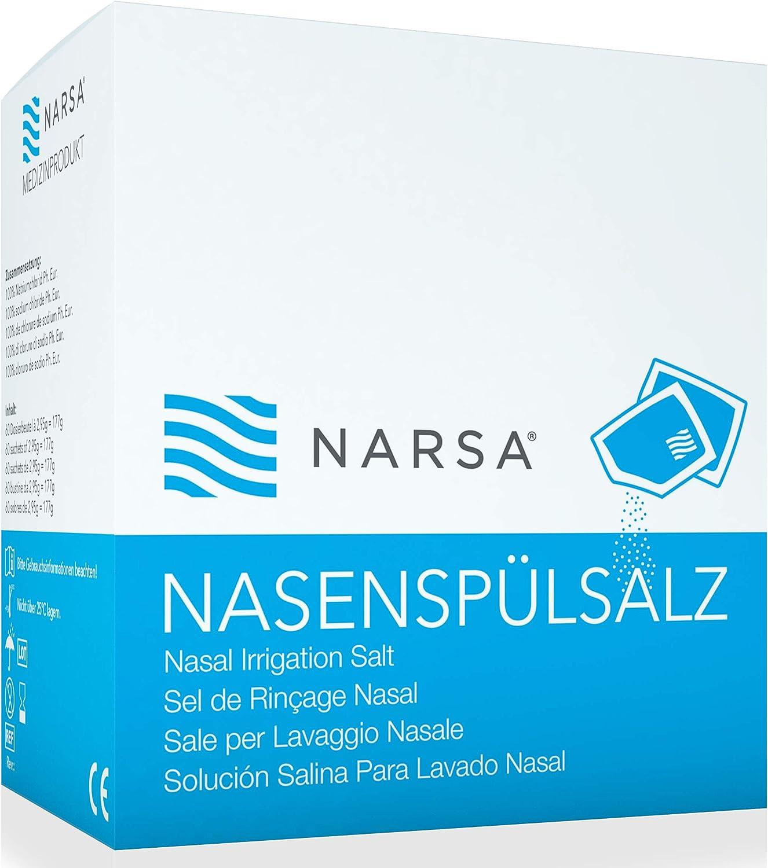 NARSA® Sales de Lavado Nasal Solución Natural Salina en Bolsas ...