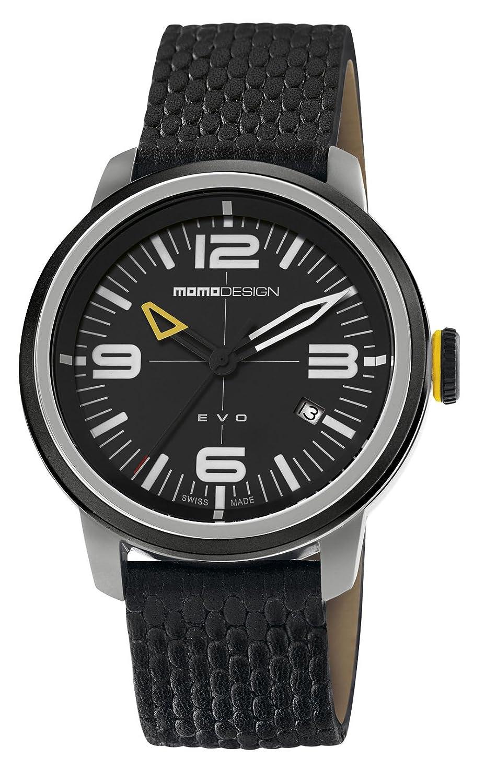 Momo Evo md1014bs-12 Herren-Armbanduhr Swiss Made mit Lederarmband und GehÄuse aus.