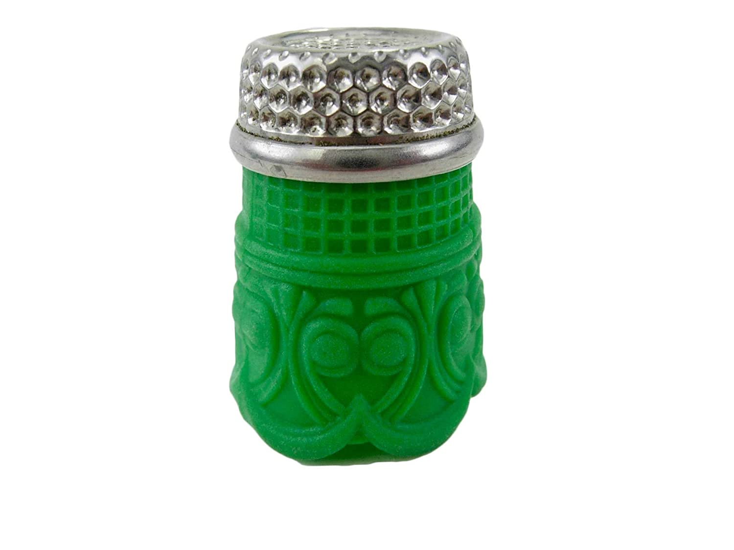 Rhythm Patch Flexible Silicone Rubber Grip Brass Thimble, Recessed-TopQuilter, Round Collar, 15.5 mm (Medium, Green) Proprietary