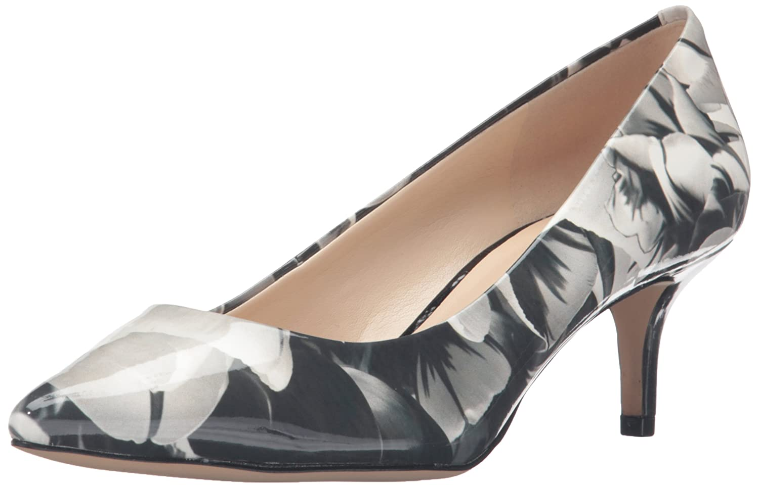Nine West Women's Xeena Synthetic Dress Pump B01ENT5YW2 7.5 B(M) US|Black/White