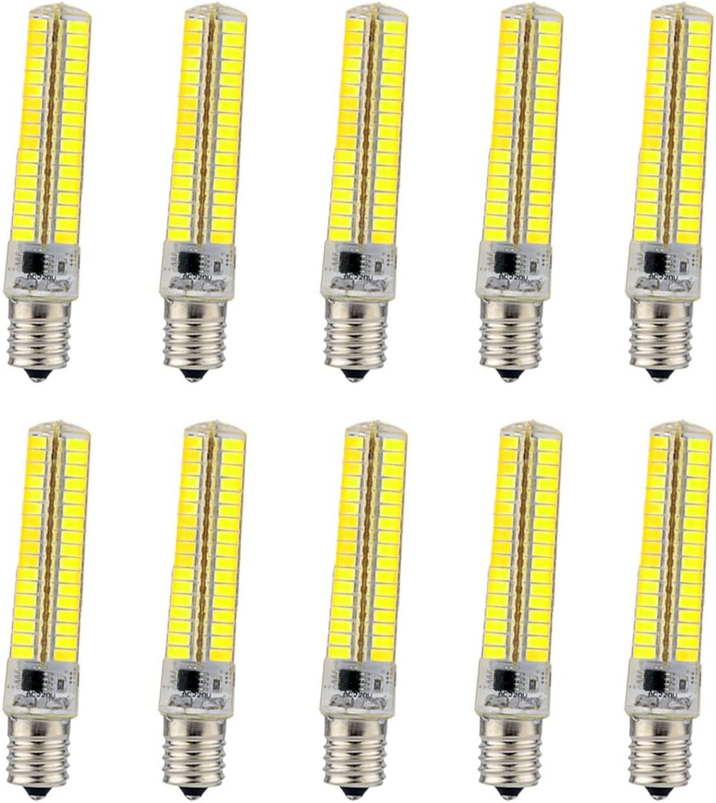 XIAOF-FEN Light Bulbs Dimmable E17 7W 136 SMD 5730 600-700 LM Warm White Cool White Corn Bulbs AC 110-130V Replace LED Bulb Color : Warm White 10PCS