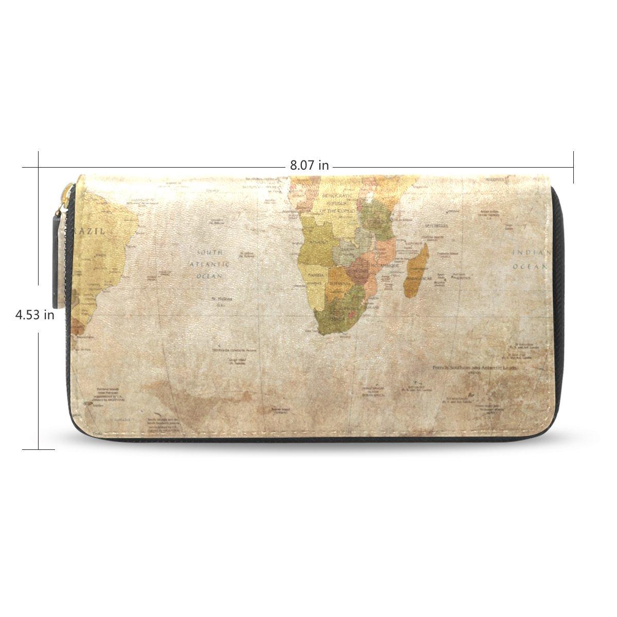 Amazon.com: sunlome mapa del viejo mundo impresión piel ...