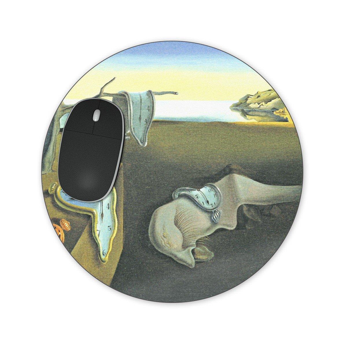 Relojes de fusión Salvador Dalí Fine Art Mousepad - neopreno para ópticas y ratón láser, multicolor, Round Mousepad: Amazon.es: Oficina y papelería