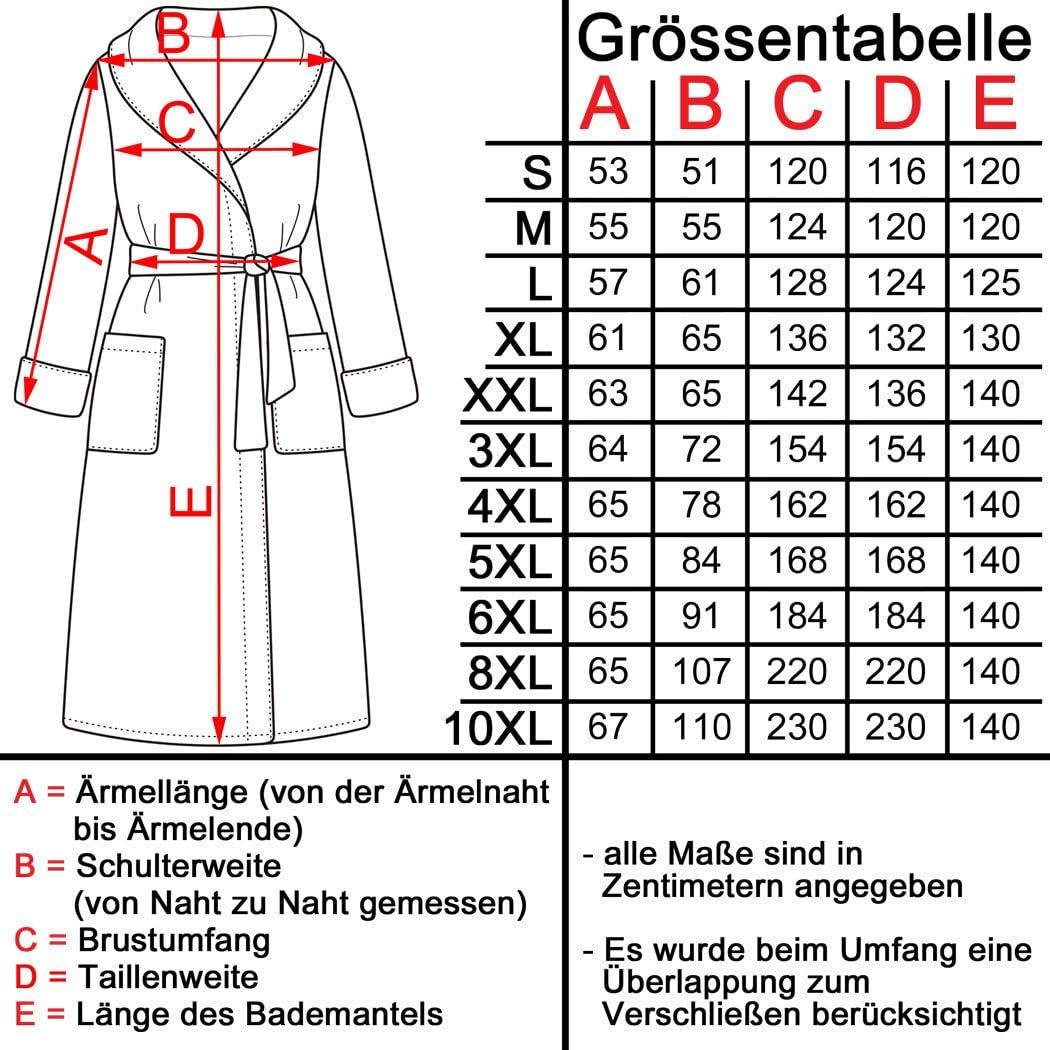 excellence by Floringo Bademantel Waffelpikee 10XL bis Gr