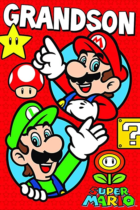 Amazon Super Mario Grandson Birthday Card Office Products