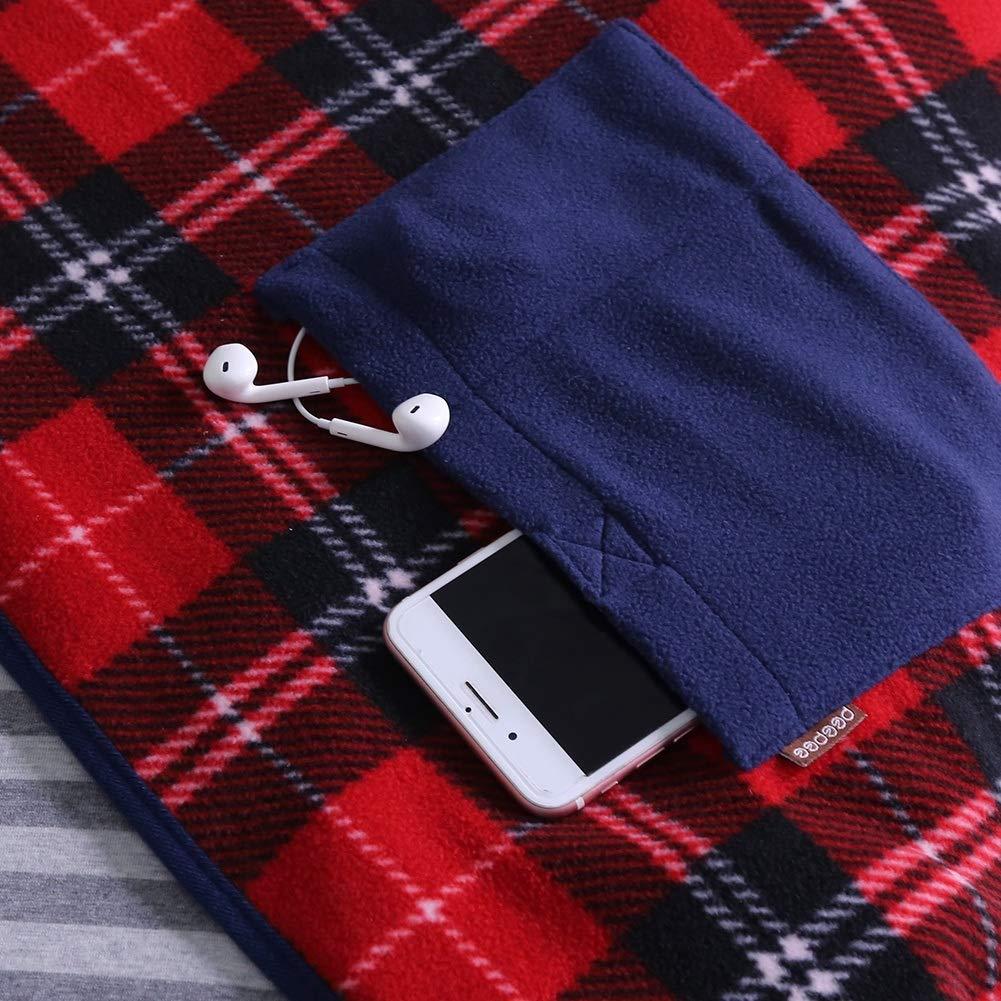 Nikou Manta USB con calefacci/ón Manta el/éctrica port/átil Manta el/éctrica con calefacci/ón Cubierta Suave de la Rodilla Manta de calefacci/ón del Coche de la Oficina con calefacci/ón