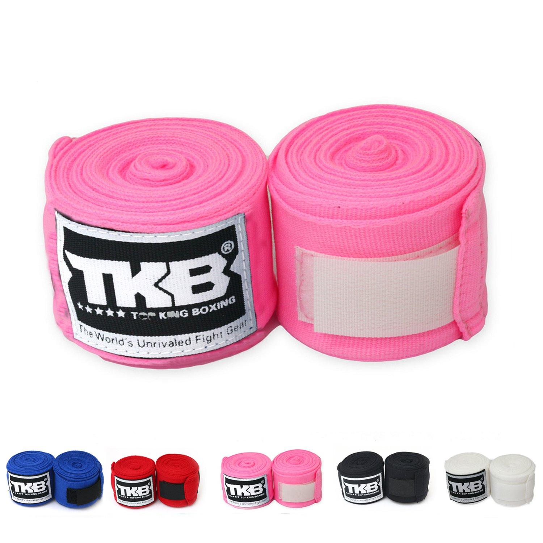 Top B00LN0C7V6 Hand KingコットンHandwraps Hand Top Wrapsカラーブラックブルーレッドホワイトピンクタイのタイ式、ボクシング、キックボクシング、MMA ピンク B00LN0C7V6, yes style:f79b5f8b --- capela.dominiotemporario.com