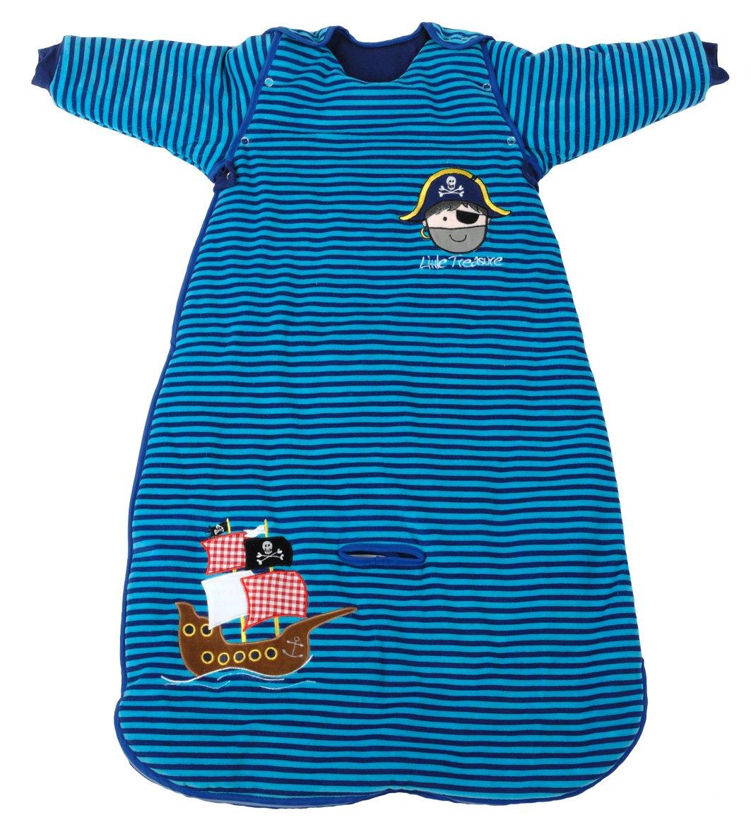 Pijama-saco de dormir The Dream Bag para bebé, velur, diseño de piratas, manga larga (70 cm, 3,5 tog, azul): Amazon.es: Bebé