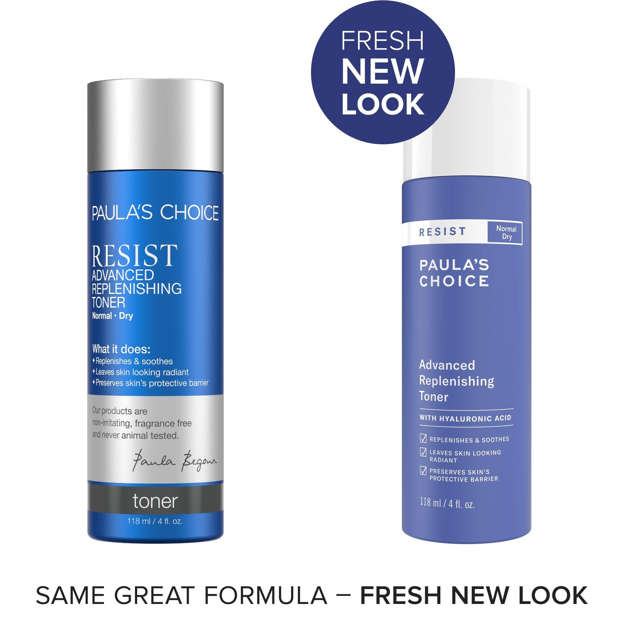 Paula's Choice-RESIST Advanced Replenishing Anti-Aging Toner w/Vitamins C & E & Antioxidants-Face Toner-Normal-Very Dry Skin-4oz Bottle