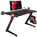 GTRACING Gaming Desk Computer Office PC Gamer Table Racing Style Professional Game Station Z-Shaped with Gaming…