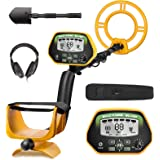RM RICOMAX Professional Metal Detector GC-1037 [Disc & Notch & Pinpoint Modes] Metal Detector Waterproof IP68 with High Accur