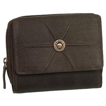 137884a85315ed Luxus Leder Damen Geldbörse Portemonnaie Geldbeutel XXL mit Druckknopf 12  cm Farbe braun