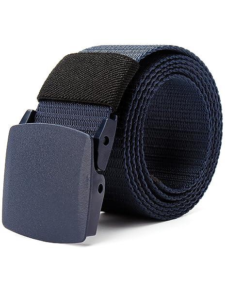 Chalier Cinturón Táctico Militar Ajustable Cintura Hombres Lona Nylon Hebilla Plástica vkahKokmO