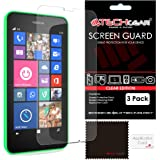 [Pack of 3] TECHGEAR® Nokia Lumia 635 & Lumia 630 CLEAR LCD Screen Protector Guard Covers with Cleaning Cloth & Application Card