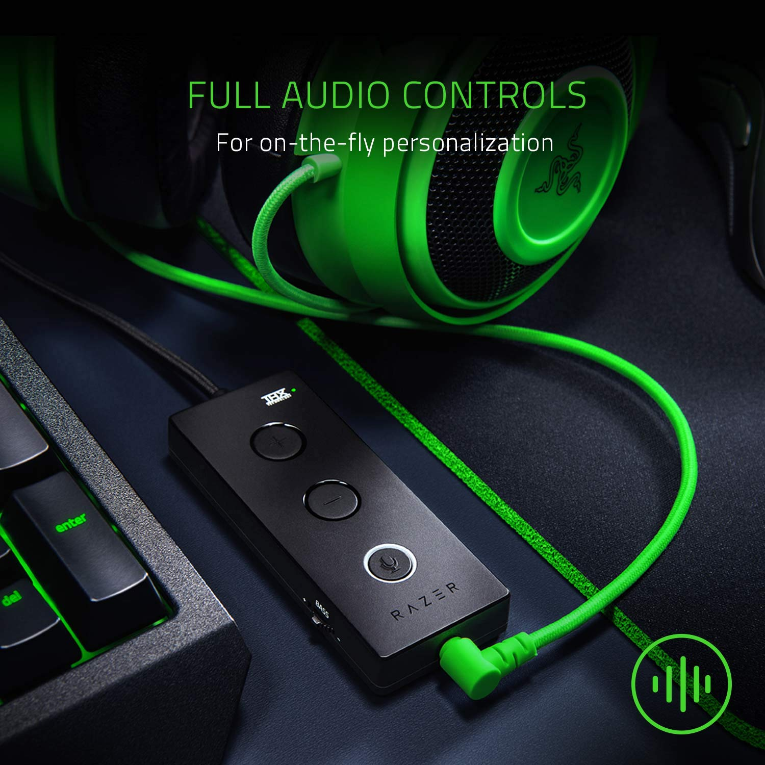Razer Kraken Tournament Edition: THX Spatial Audio - Full Audio Control - Cooling Gel-Infused Ear Cushions - Gaming Headset Works with PC, PS4, Xbox One, Switch, & Mobile Devices - Black by Razer (Image #2)