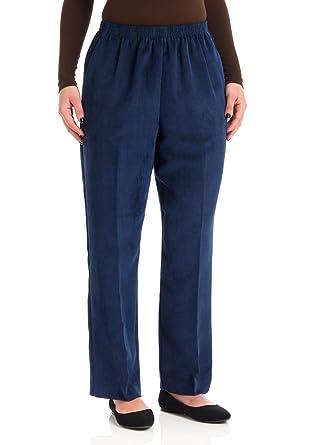 4d29f18da49 Alfred Dunner Classics Elastic Waist Pants Navy 20W S