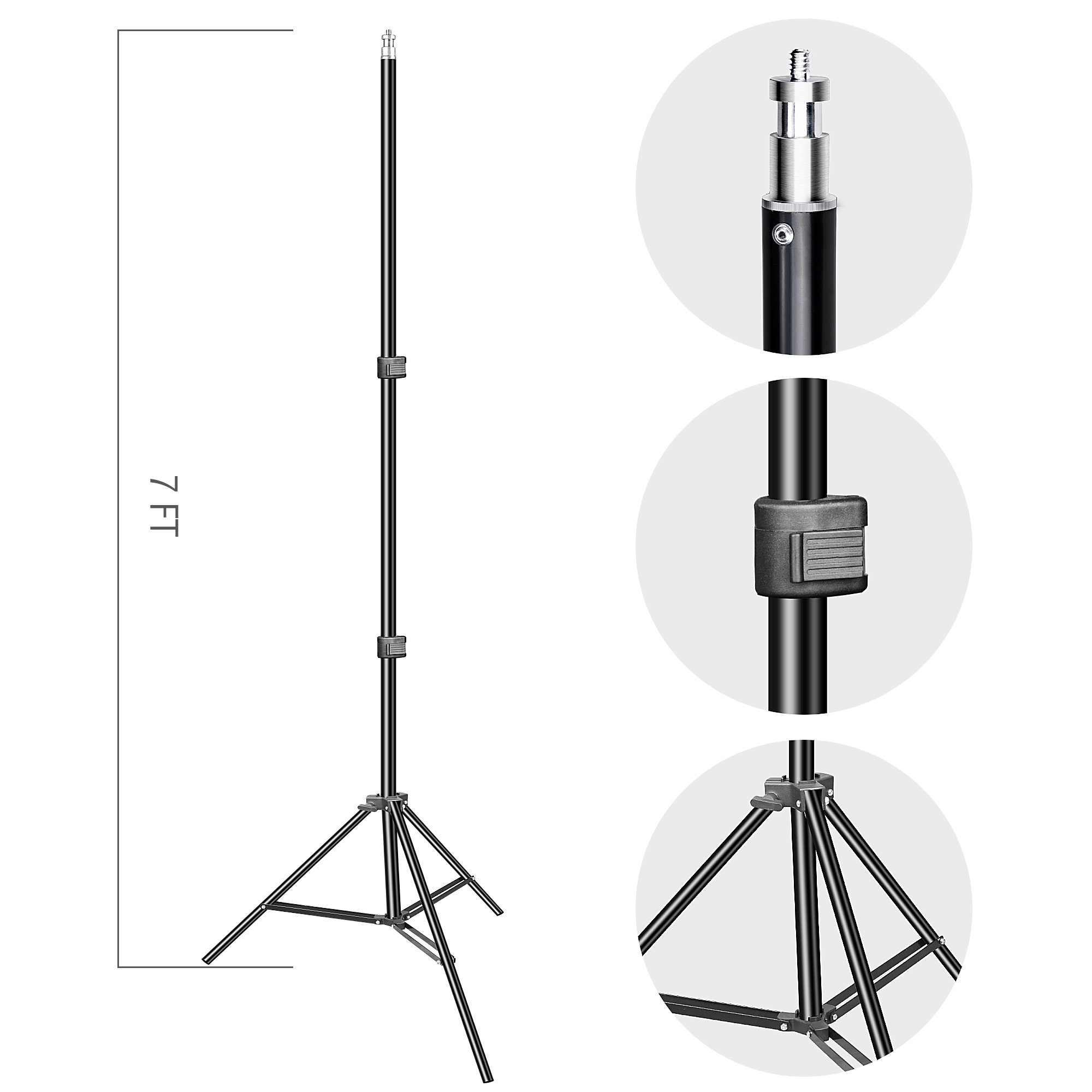 Backdrop Stand, Emart 7x10ft Photo Video Studio Muslin Background Stand Backdrop Support System Kit with Mini Ball Head, Photography Studio by EMART (Image #6)