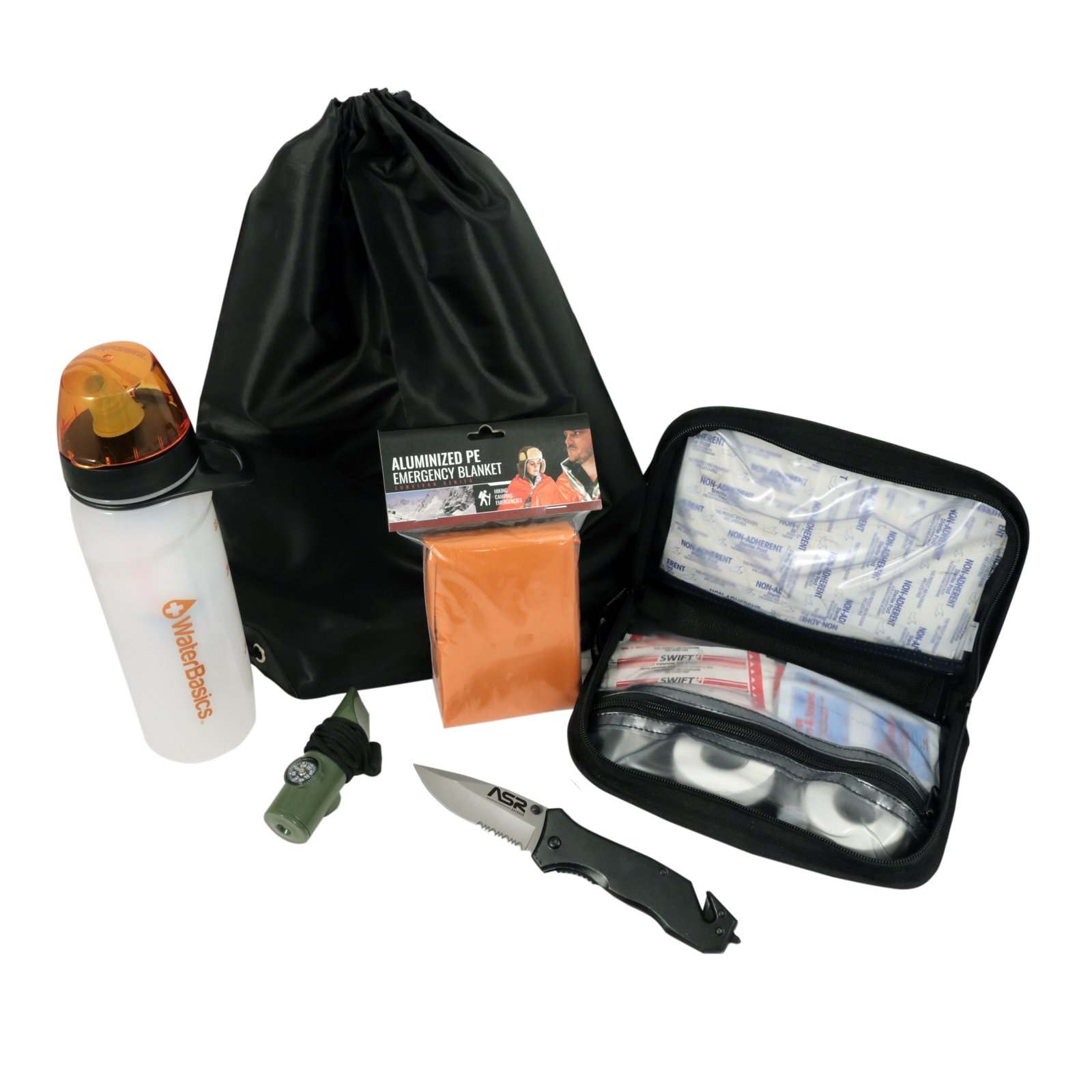 Deluxe Emergency Survival Kit For Camping Backpacking Car