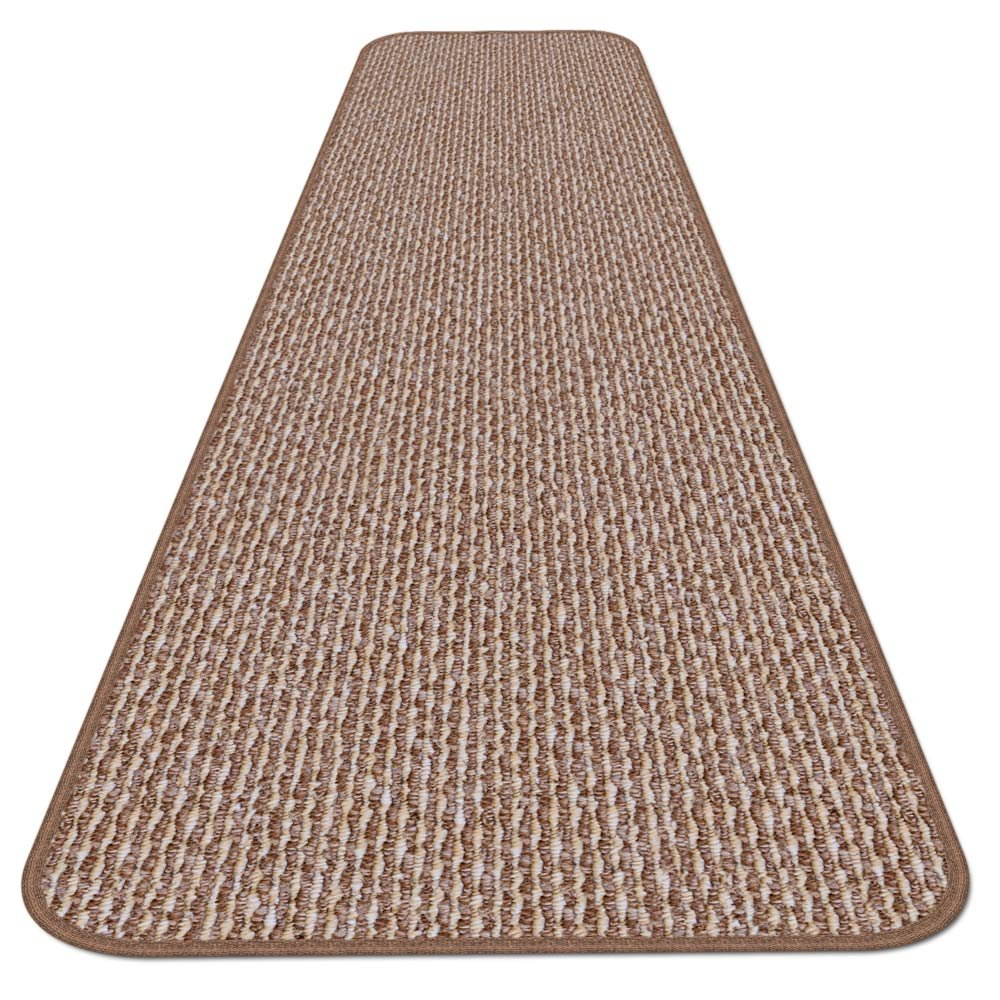 Skid-resistant Carpet Runner - Praline Brown - 14 Ft. X 36 In. - Many Other Sizes to Choose From by House, Home and More