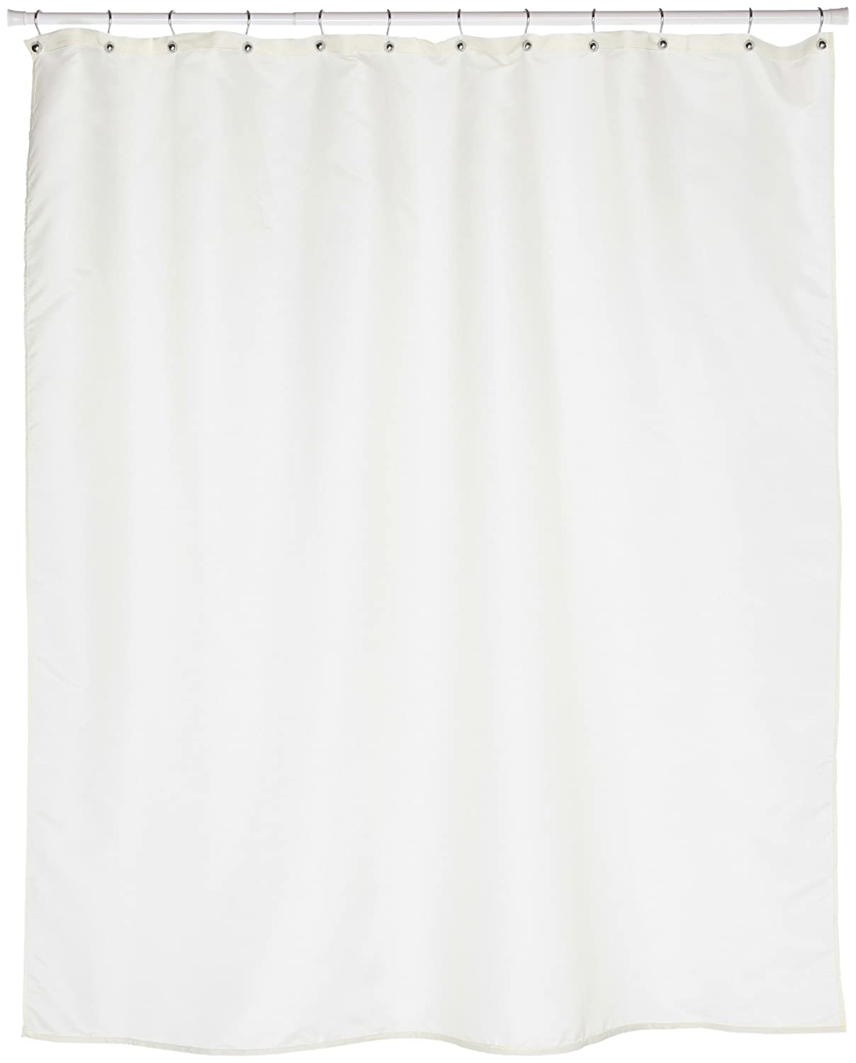 Amazon.com: Carnation Home Fashions Fabric Extra Long Shower ...
