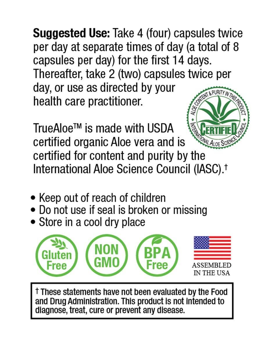 TrueAloe 100% Organic Aloe Vera Supplement by NatureCity (Image #5)