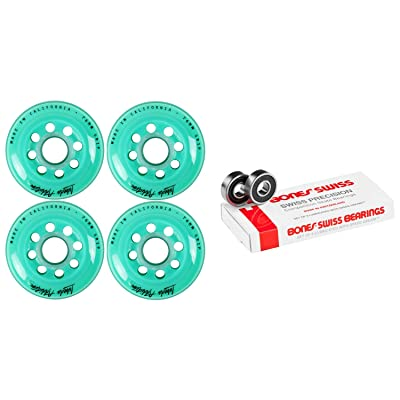 Labeda Inline Roller Hockey Skate Wheels Addiction Teal 76mm 4 Set Bones Swiss : Sports & Outdoors