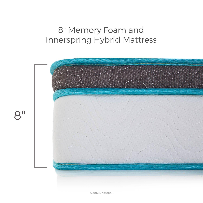 LinenSpa 8'' Memory Foam and Innerspring Hybrid Mattress, Twin XL by Linenspa (Image #4)