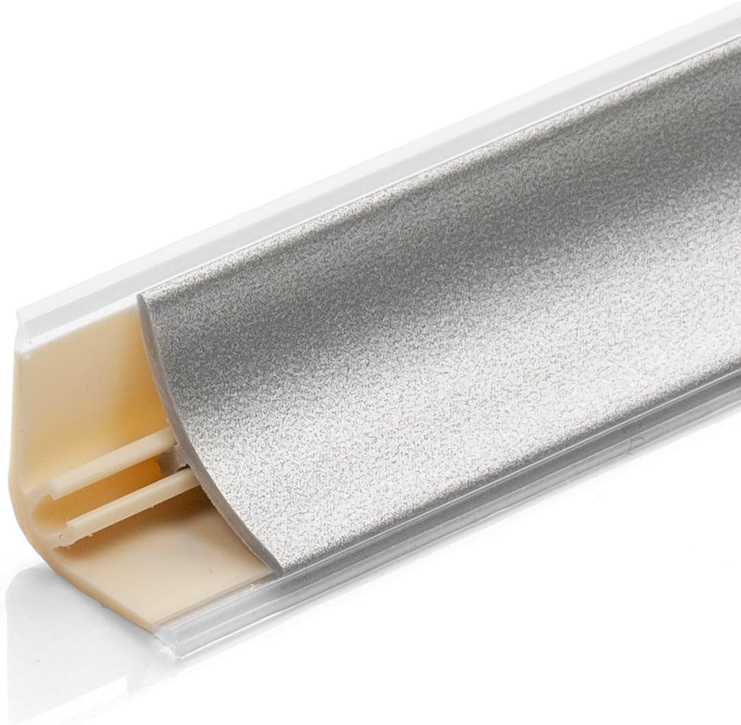 DQ-PP Endst/ück rechts 52mm PVC Eiche gold Laminatleisten Fussleisten aus Kunststoff PVC Laminat Dekore Fu/ßleisten