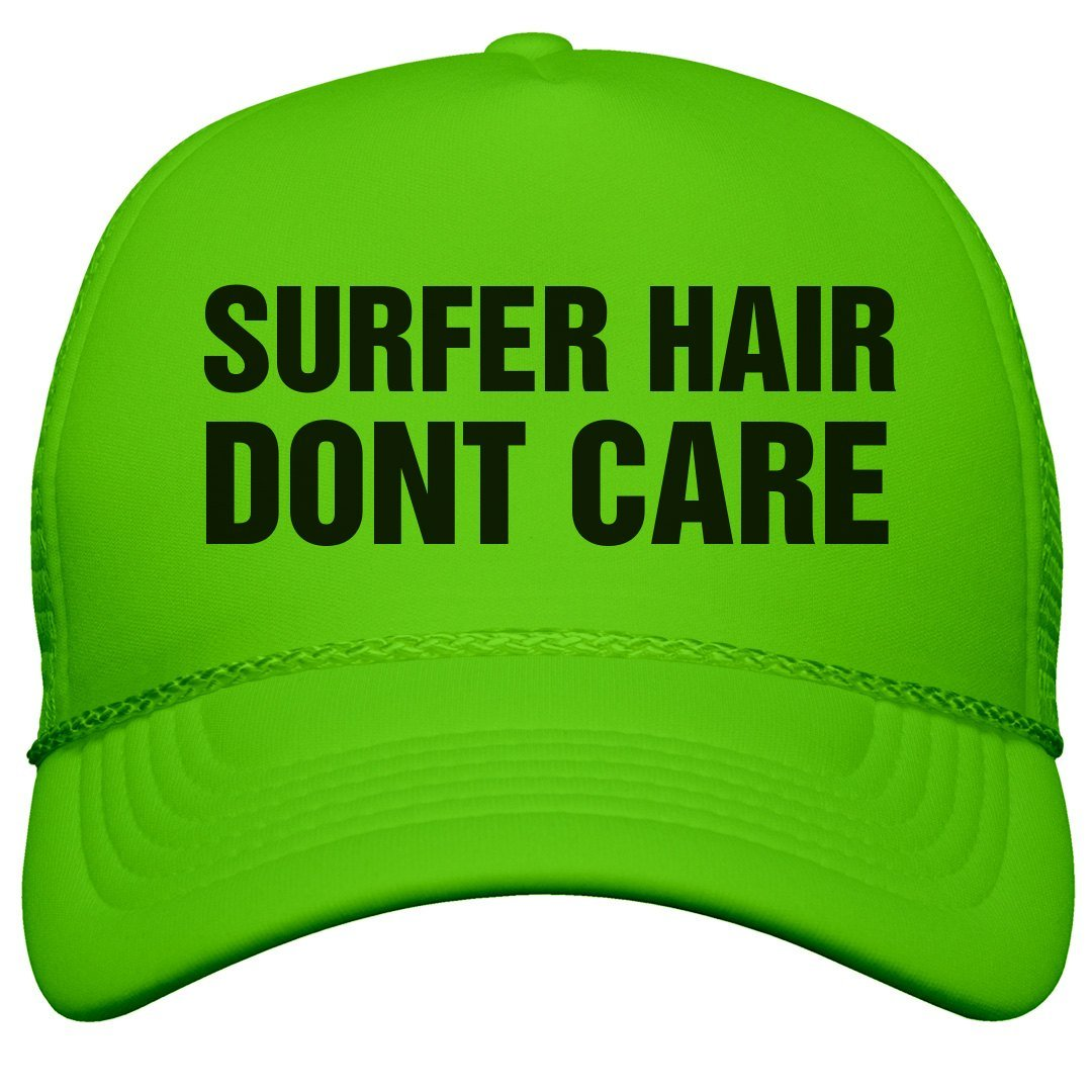 5262aef4914 Amazon.com  Customized Girl Spring Break Surfer Hair  Neon Snapback Trucker  Hat  Clothing