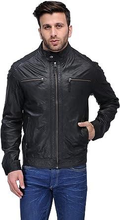 Teakwood Leather Mens Real Genuine Lambskin Leather Jacket